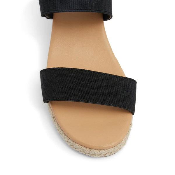 Sandy Espadrille in Black Fabric