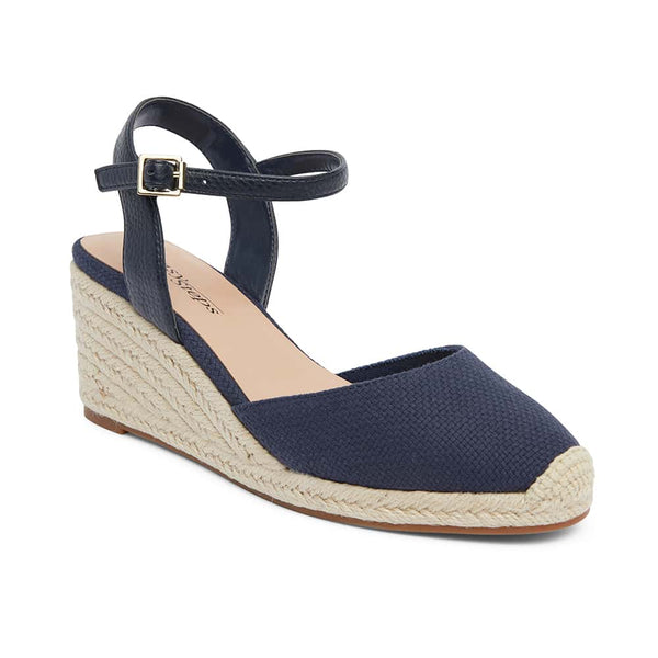 Santos Espadrille in Navy Fabric
