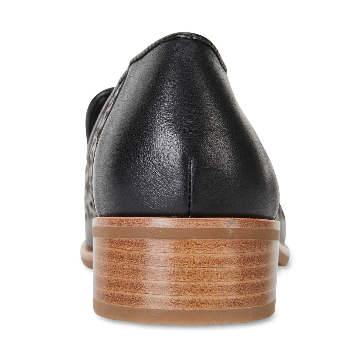 Satchel Loafer in Black Leather