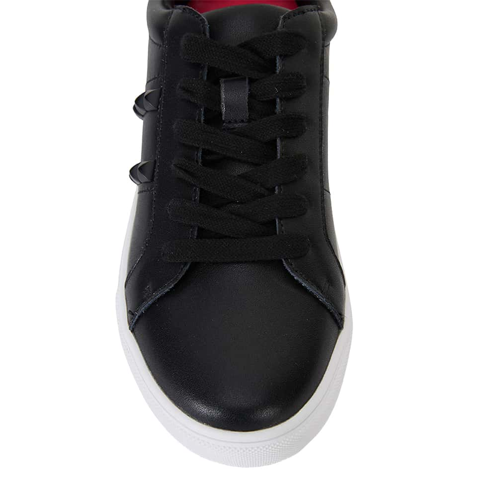 Savage Sneaker in Black Leather