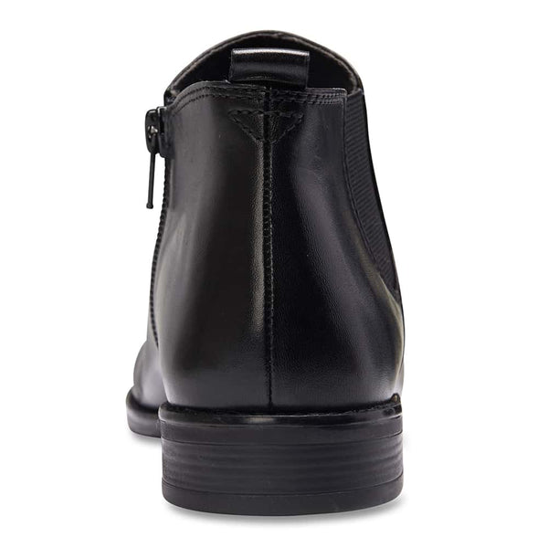 Scope Boot in Black Leather
