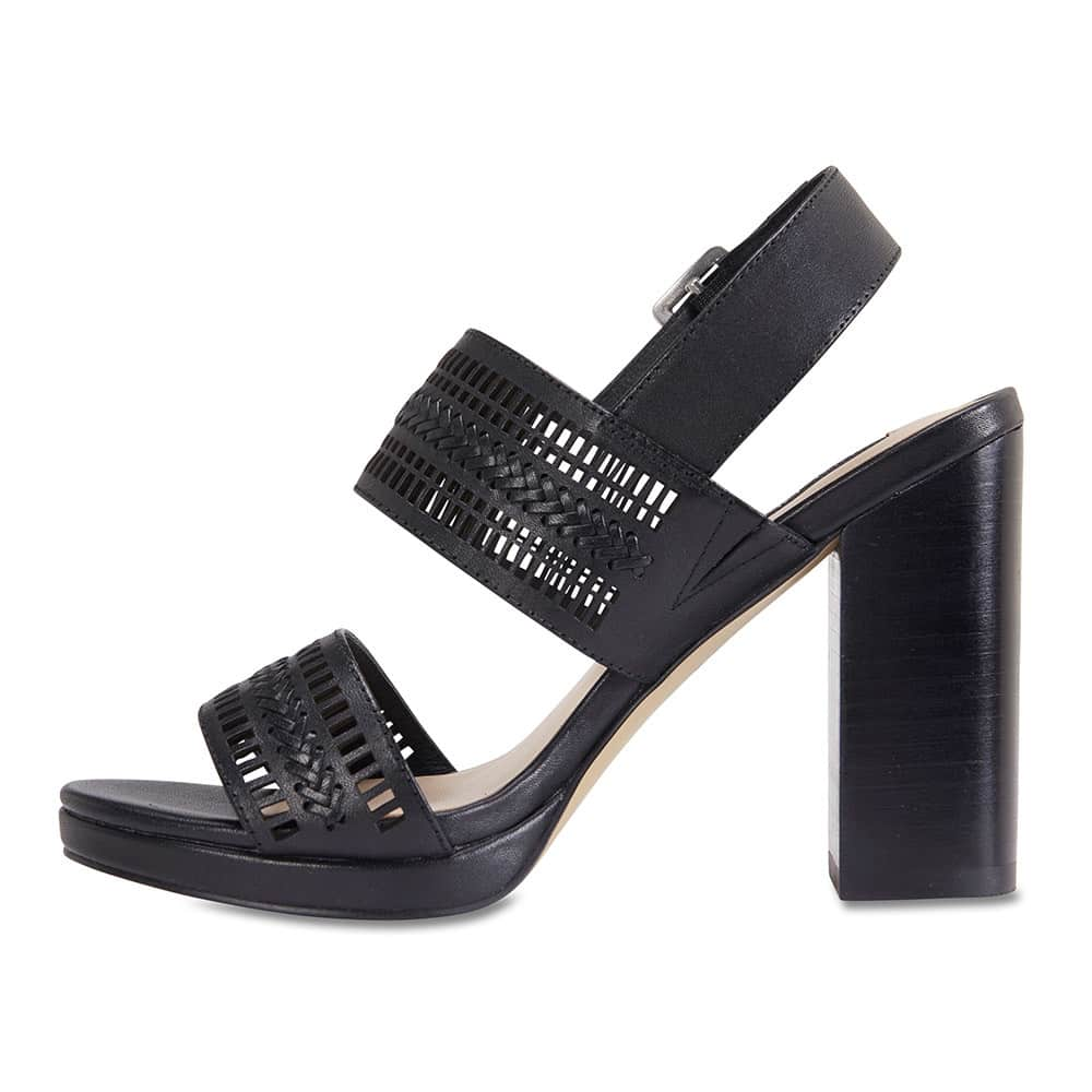 Scorpio Heel in Black Leather