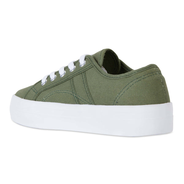 Scott Sneaker in Khaki Canvas