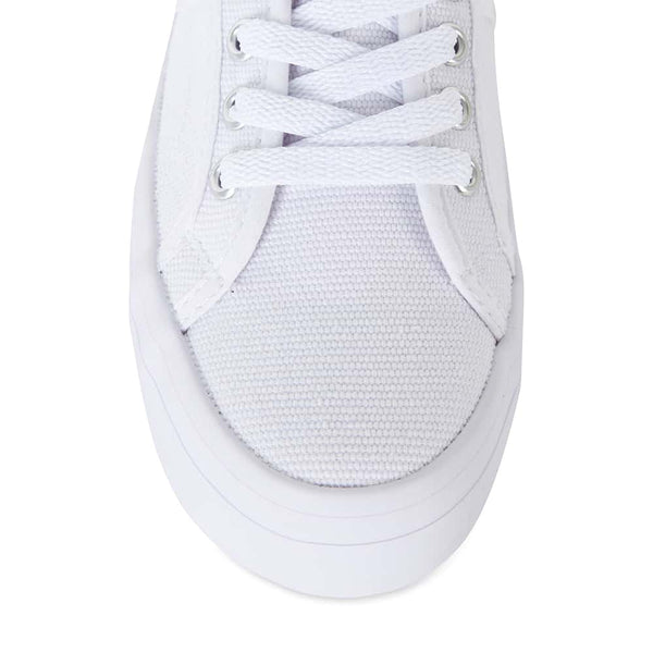 Scott Sneaker in White Canvas