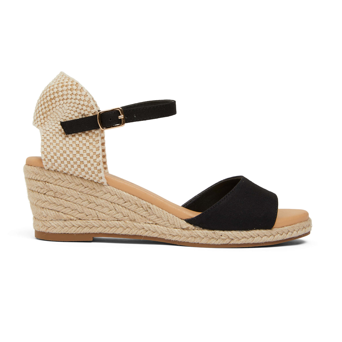 Scout Espadrille in Black Fabric