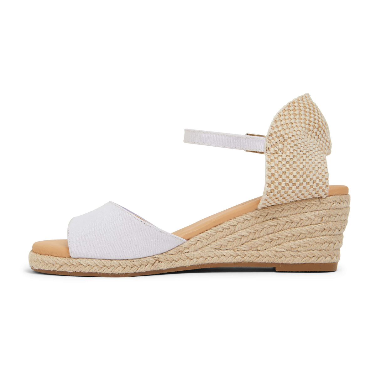 Scout Espadrille in White Fabric