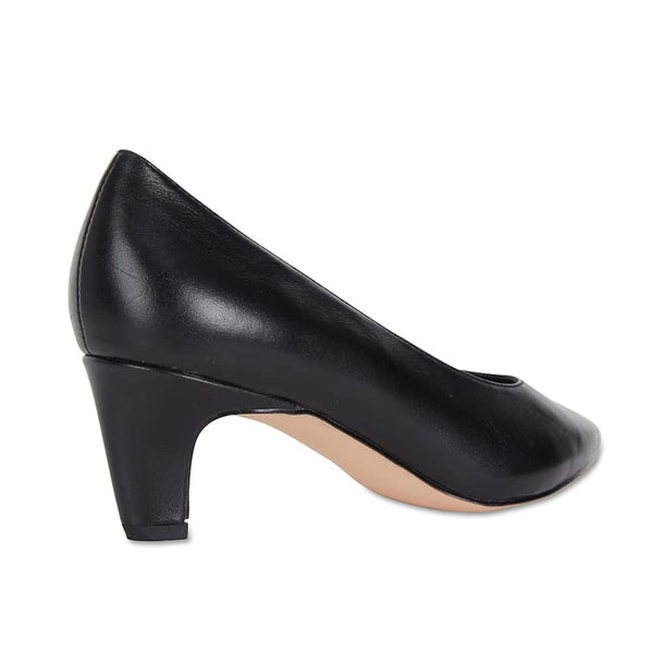 Seduce Heel in Black Leather
