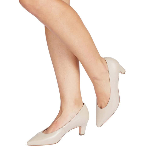 Seduce Heel in Nude Leather