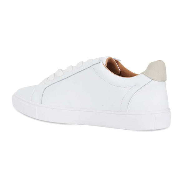 Serena Sneaker in White Leather
