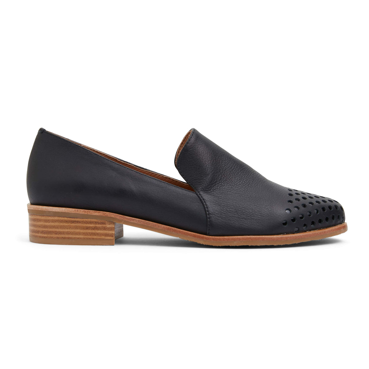 Shade Loafer in Black Leather