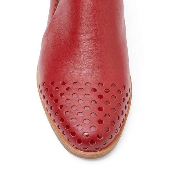 Shade Loafer in Red Leather