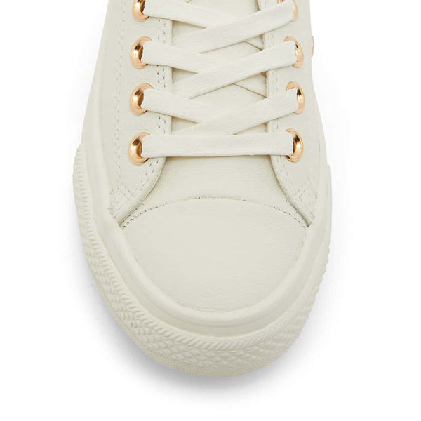 Sheldon Sneaker in White Leather