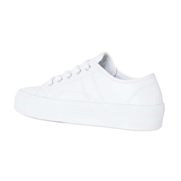 Slater Sneaker in White Leather