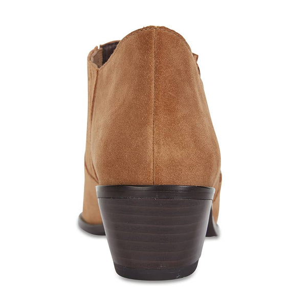 Society Boot in Tan Suede