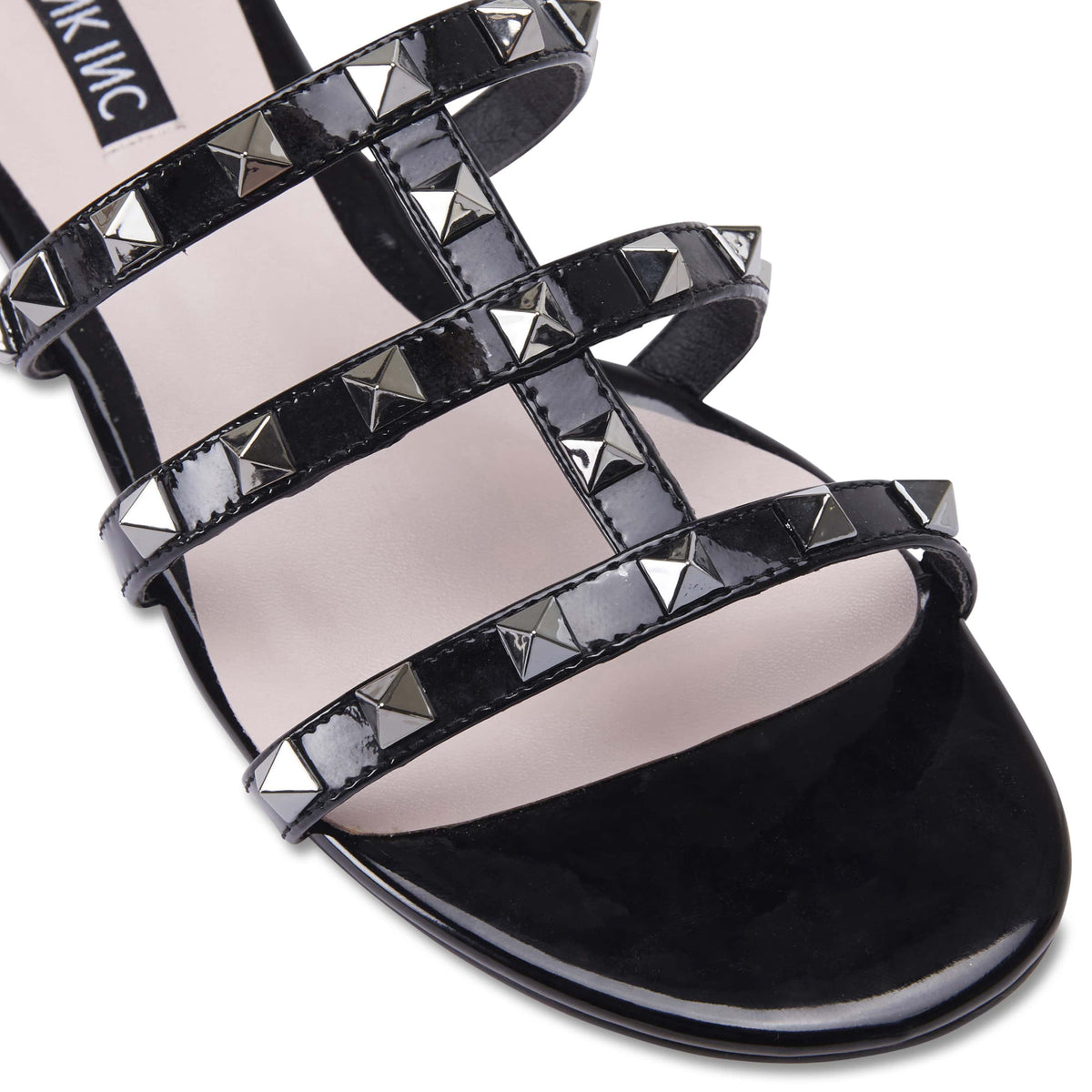 Spain Slide in Black Patent
