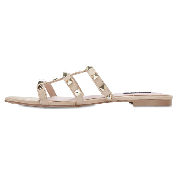 Spain Slide in Nude Leather