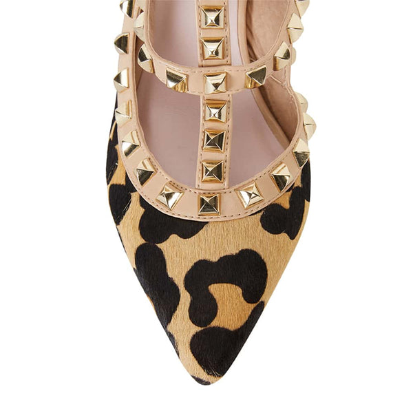 Sphinx Heel in Animal Nubuck