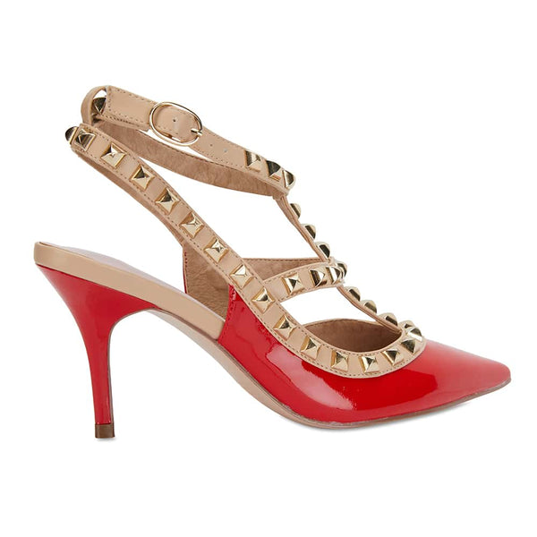 Sphinx Heel in Red Patent