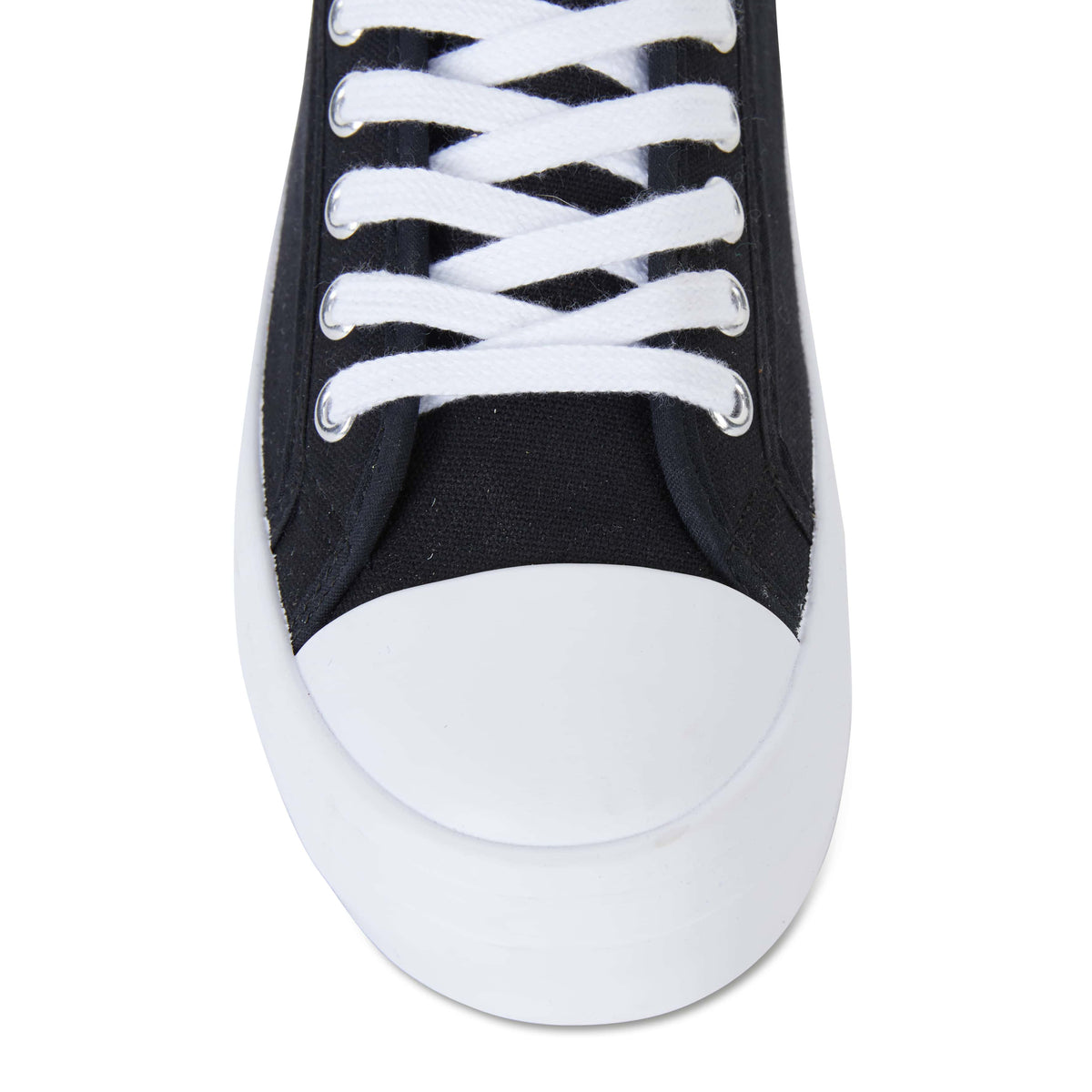 Stacey Sneaker in Black Canvas