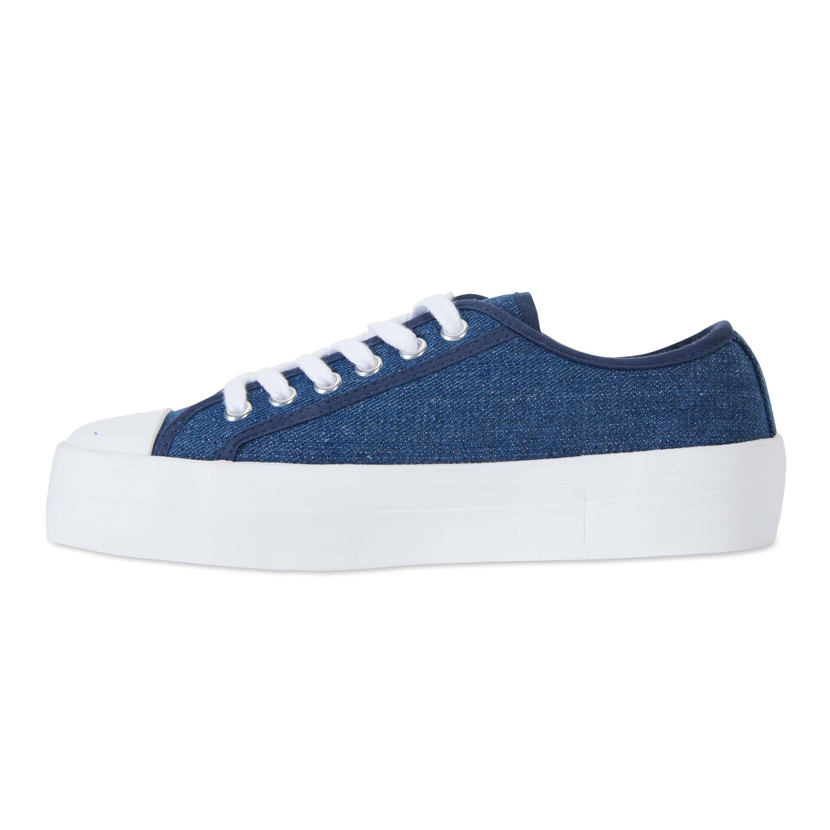 Stacey Sneaker in Denim Canvas