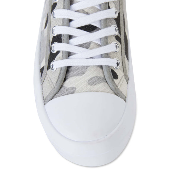Stacey Sneaker in Light Camouflage Canvas