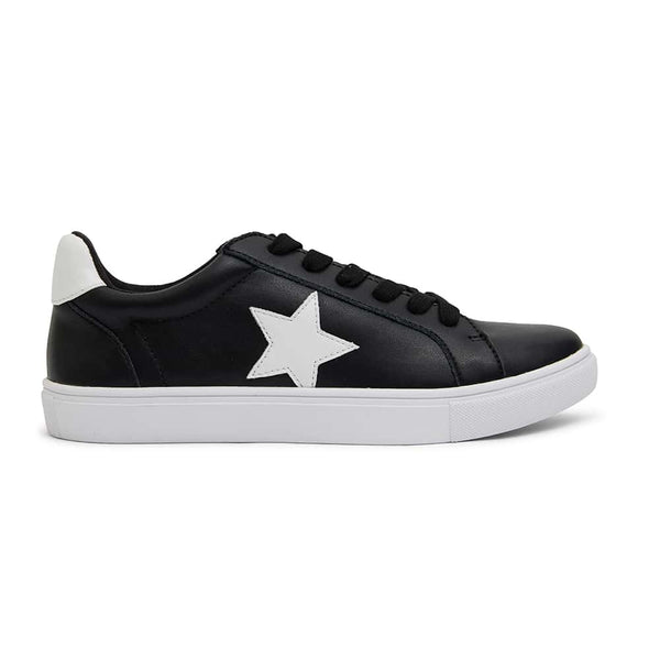 Stark Sneaker in Black And White Leather