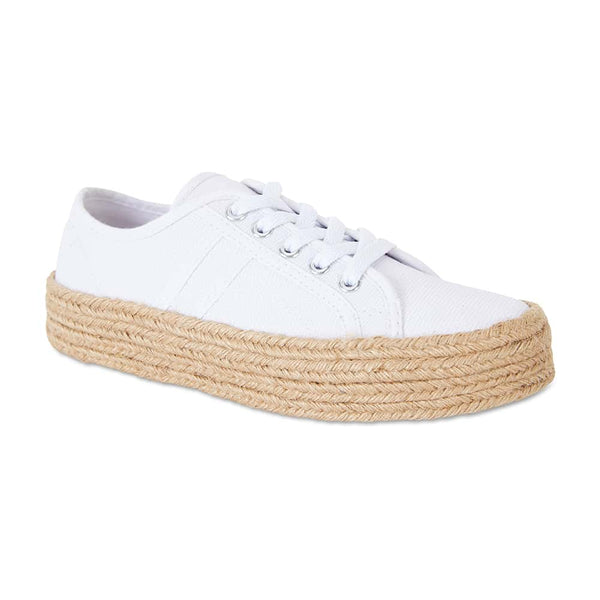 Static Sneaker in White Canvas