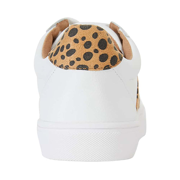 Storm Sneaker in White And Animal Print Leather