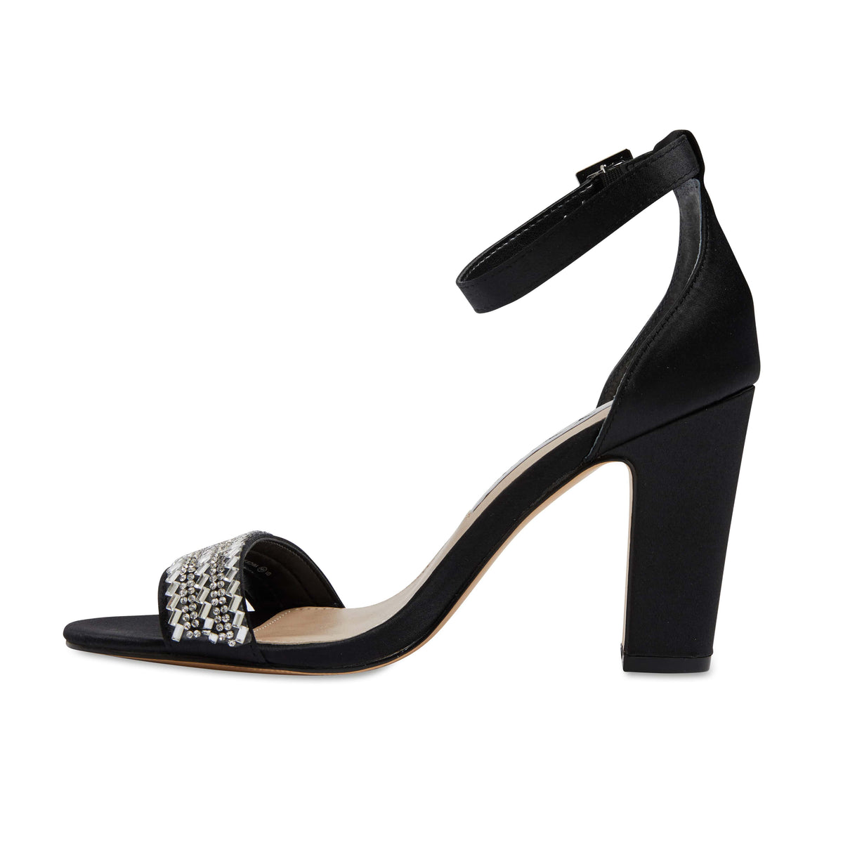 Suzette Heel in Black Satin