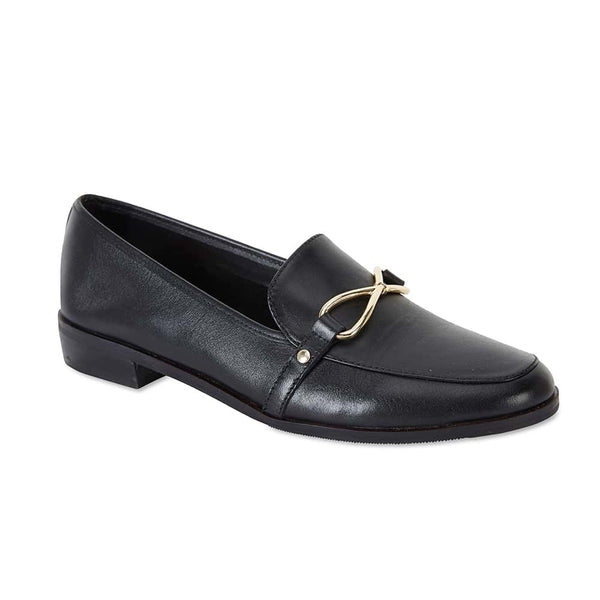 Tally Loafer in Black Leather