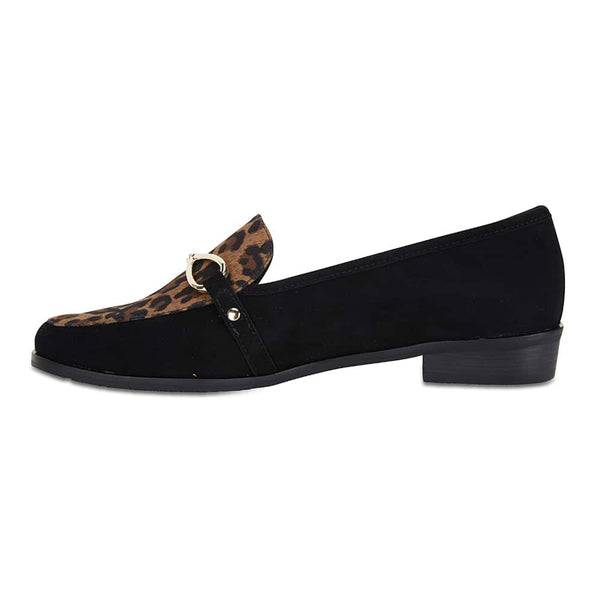 Tally Loafer in Black Suede