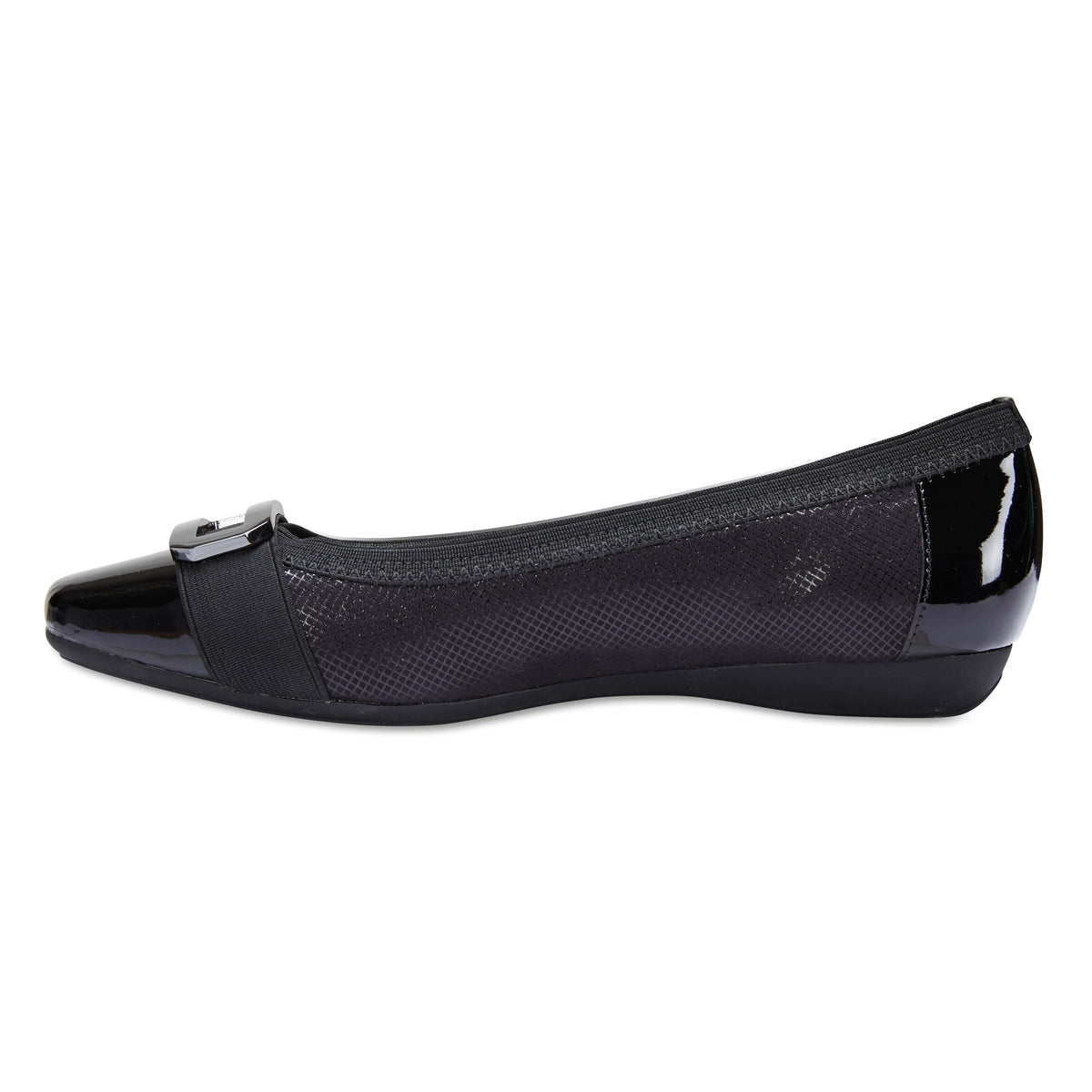 Tamsin Flat in Black Smooth