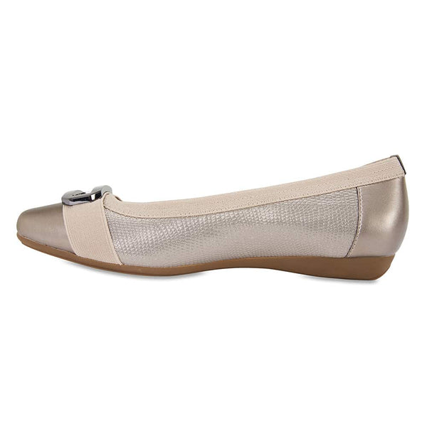 Tamsin Flat in Pewter Smooth