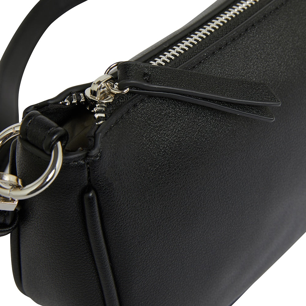 Tang Handbag in Black Smooth