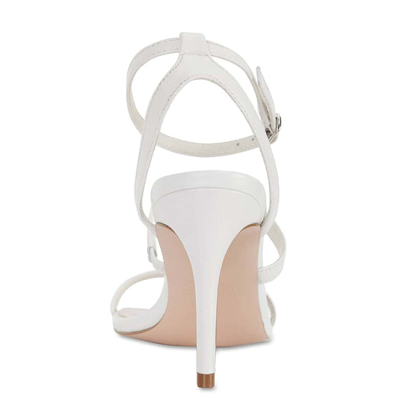 Testify Heel in White Leather