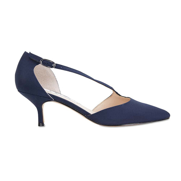 Tirisa Heel in Navy Satin