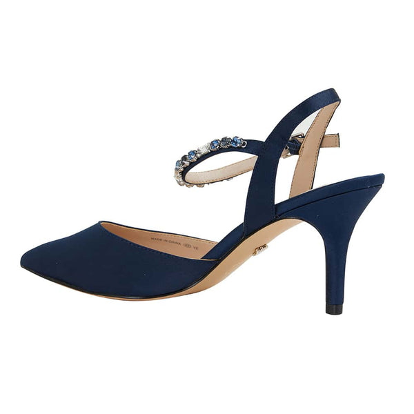 Tonya Heel in Navy Synthetic