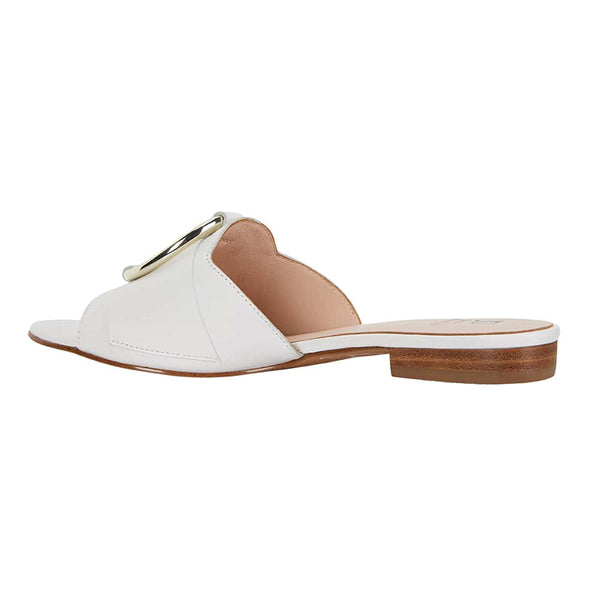 Trinity Slide in White Leather