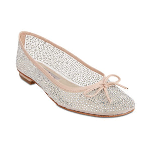 Twinkle Flat in Blush Satin
