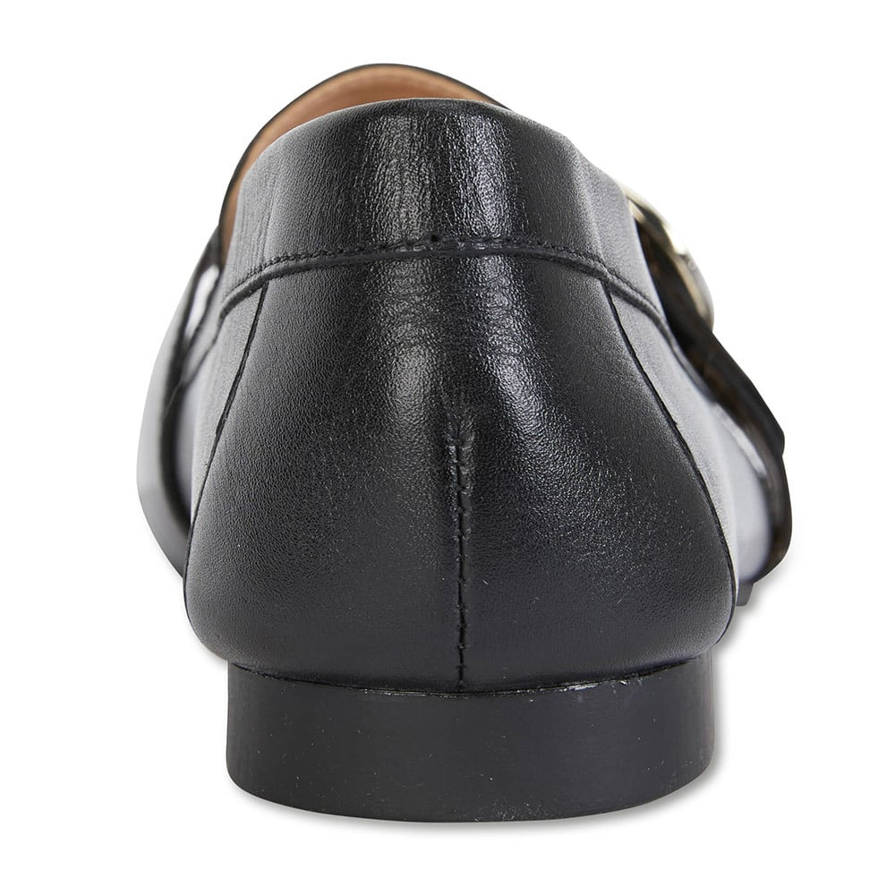 Tyson Loafer in Black Leather