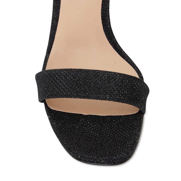 Unison Heel in Black Shimmer Fabric