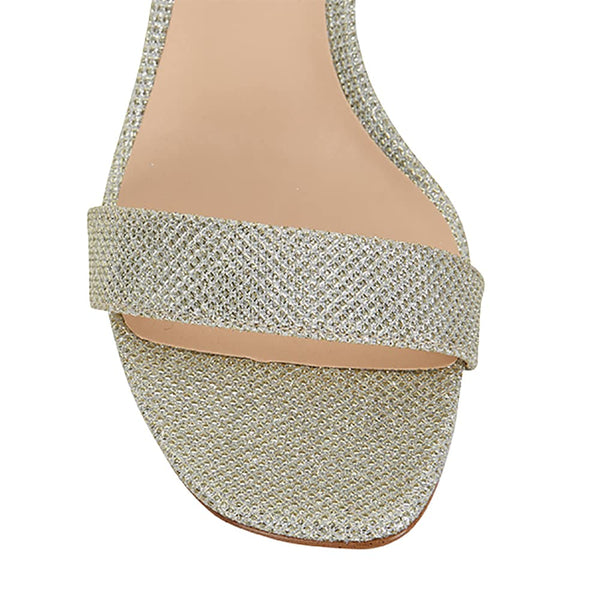 Unison Heel in Soft Gold Fabric