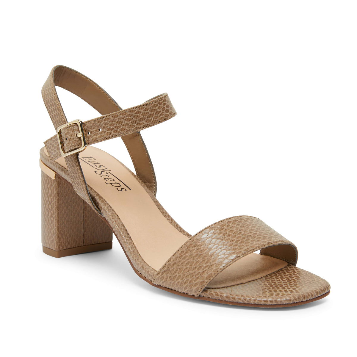 Uno Heel in Taupe Print Smooth