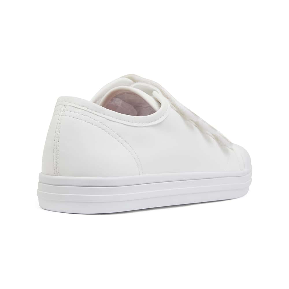 Veda Sneaker in White Smooth