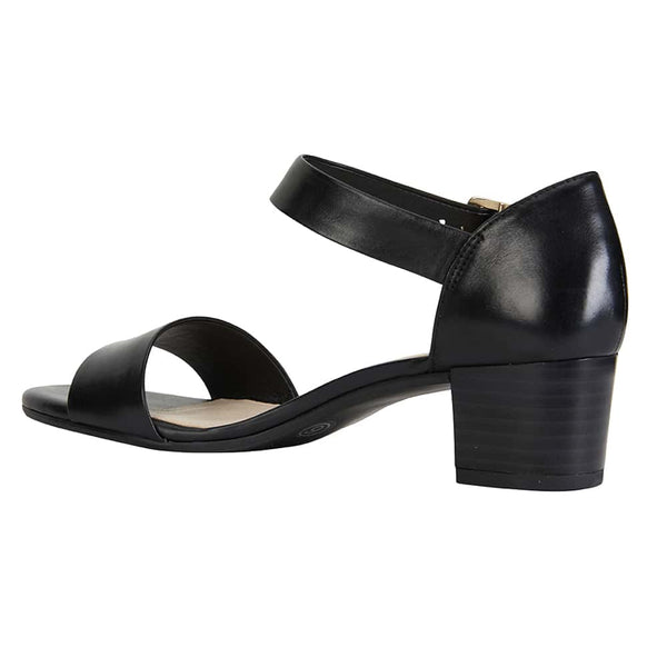 Vella Heel in Black Leather