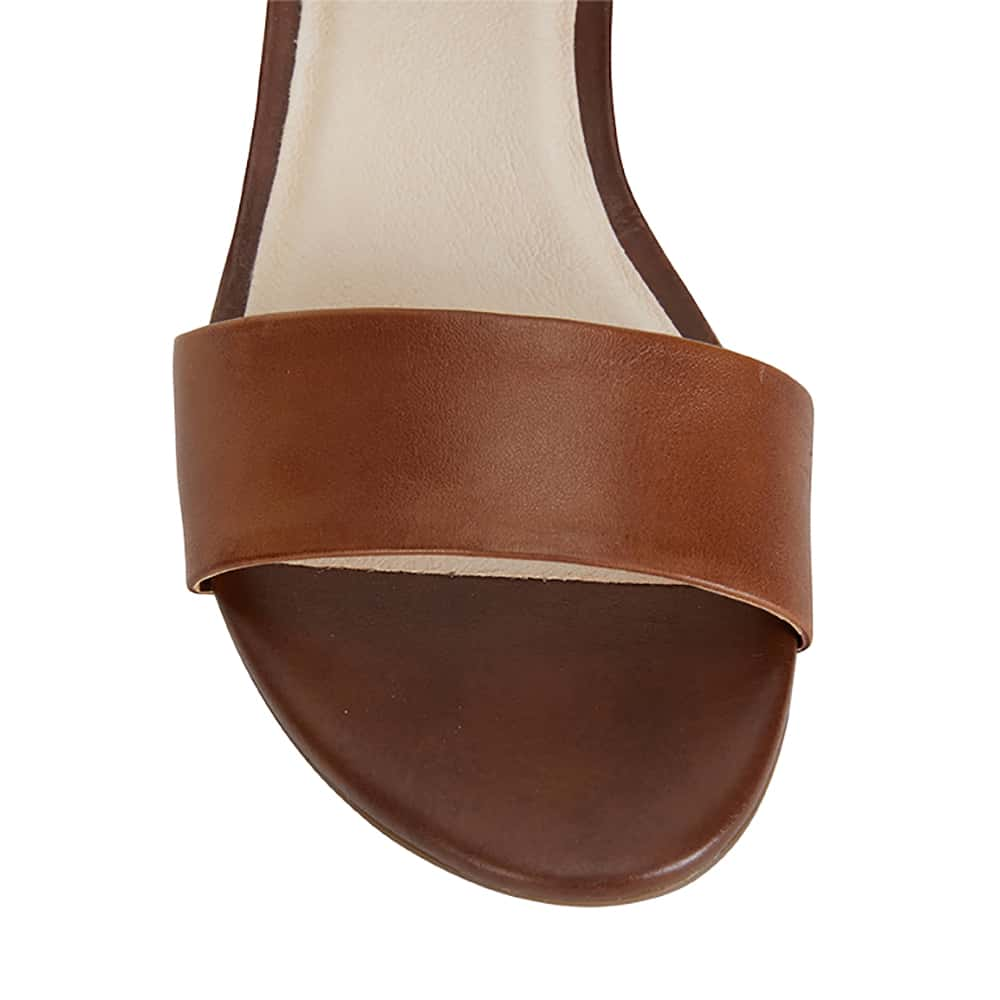 Vella Heel in Cognac Leather