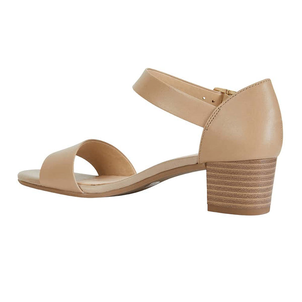 Vella Heel in Neutral Leather