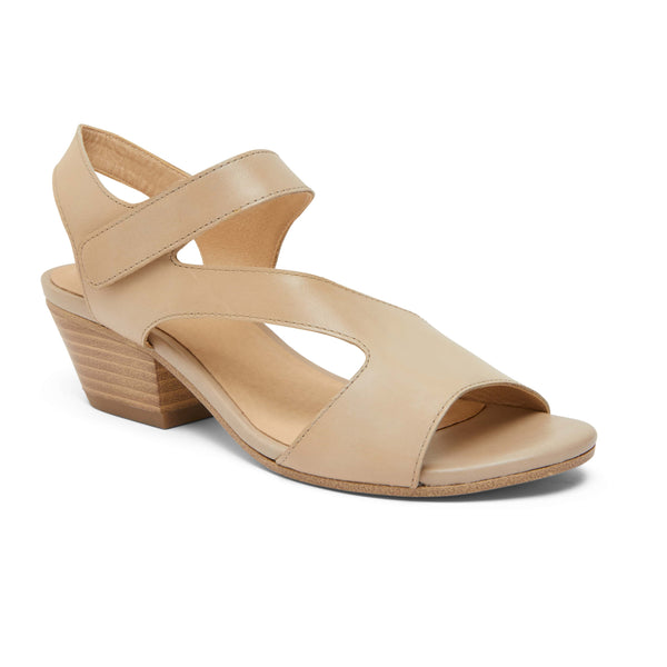 Venice Heel in Nude Leather