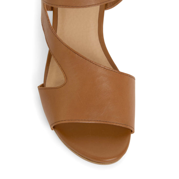 Venice Heel in Tan Leather