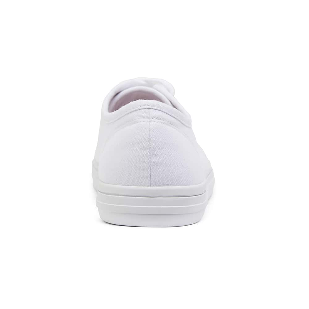 Ventura Sneaker in White Canvas